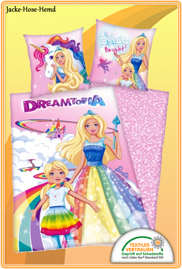 Bettwäsche Barbie Dreamtopia